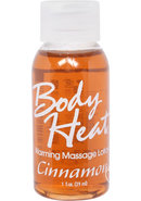 Body Heat Edible Warming Massage Lotion Cinnamon 1 Ounce